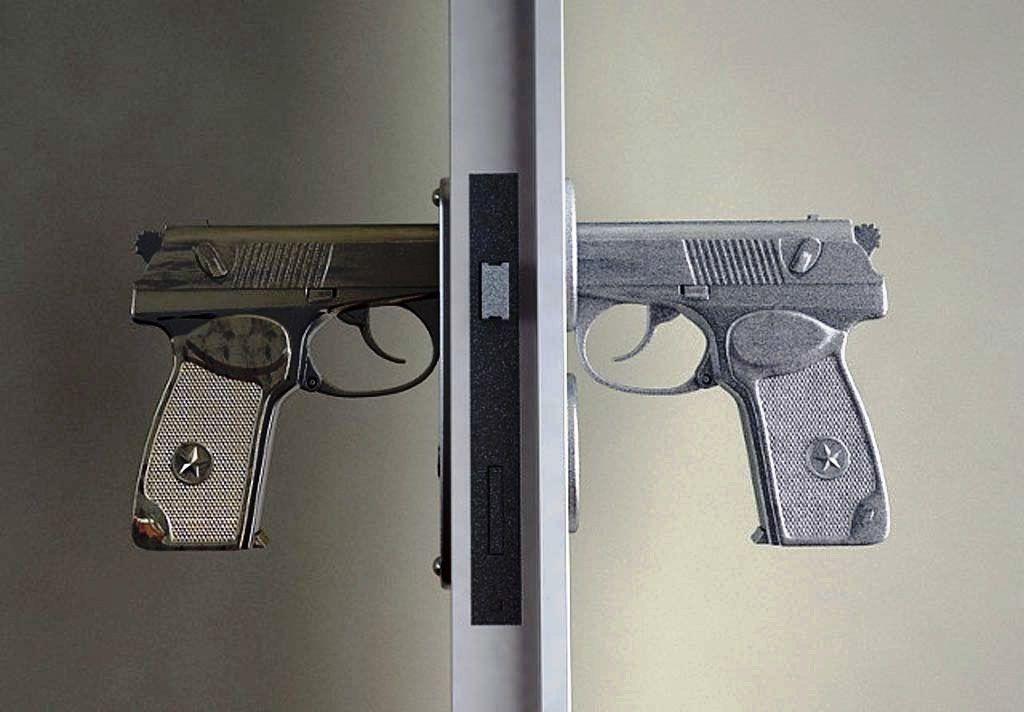 Gagang pintu pistol
